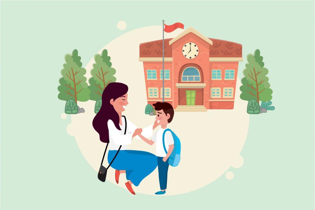 Menyiapkan Mental Anak Masuk Sekolah Baru