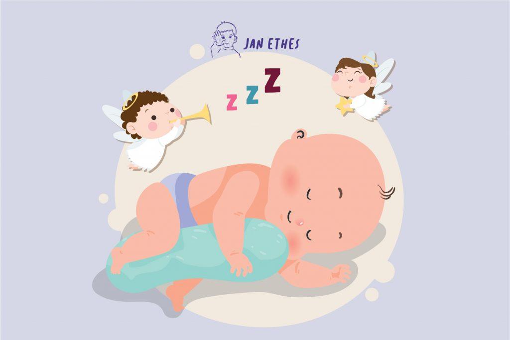 Bayi  Senyum-Senyum dalam Tidurnya, Lihat Malaikat?