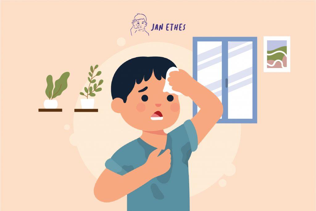 Waspadai Hiperhidrosis pada Anak