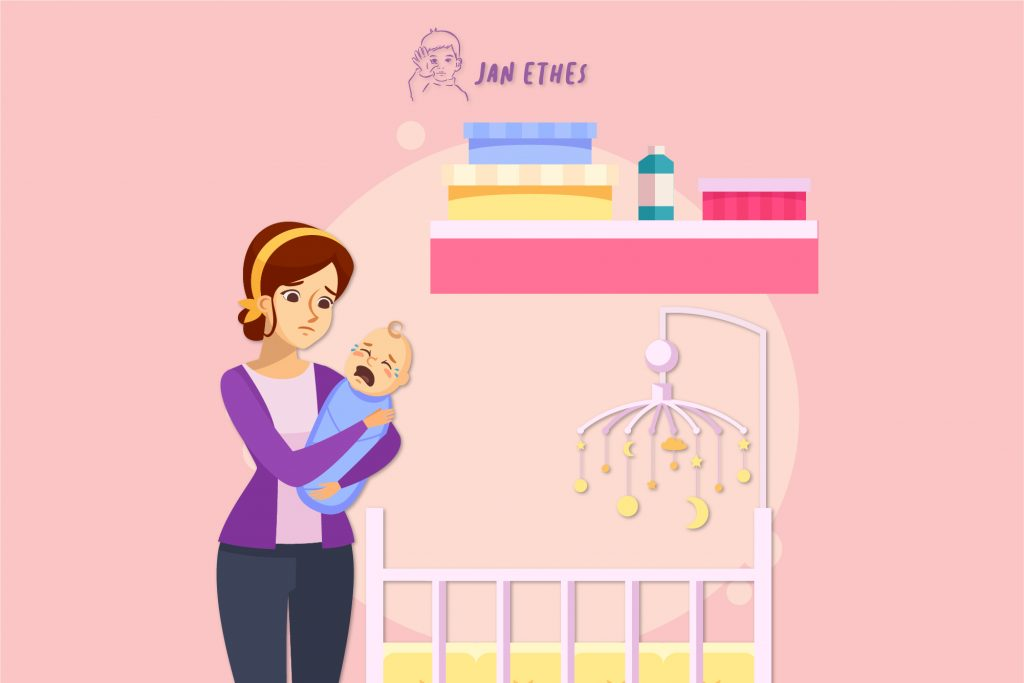 Ciri-ciri bayi sedang sakit/tak enak badan